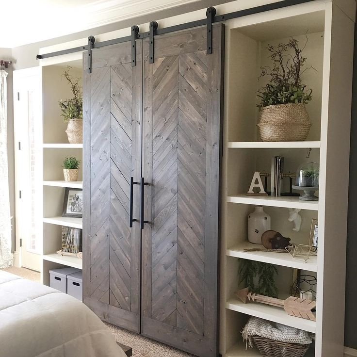 Free plans for these sliding barn doors are on our site now ❤️☕️ #shanty2chic #barndoors