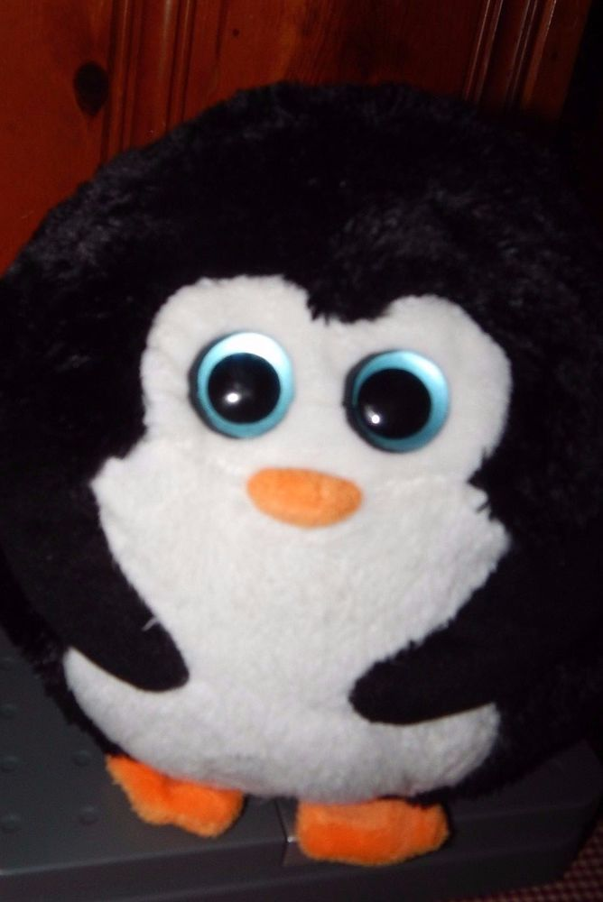 "Ty Beanie Ballz AVALANCHE 7"" Tall Penguin Plush Stuffed Animal 2011 Soft GUC #Ty"