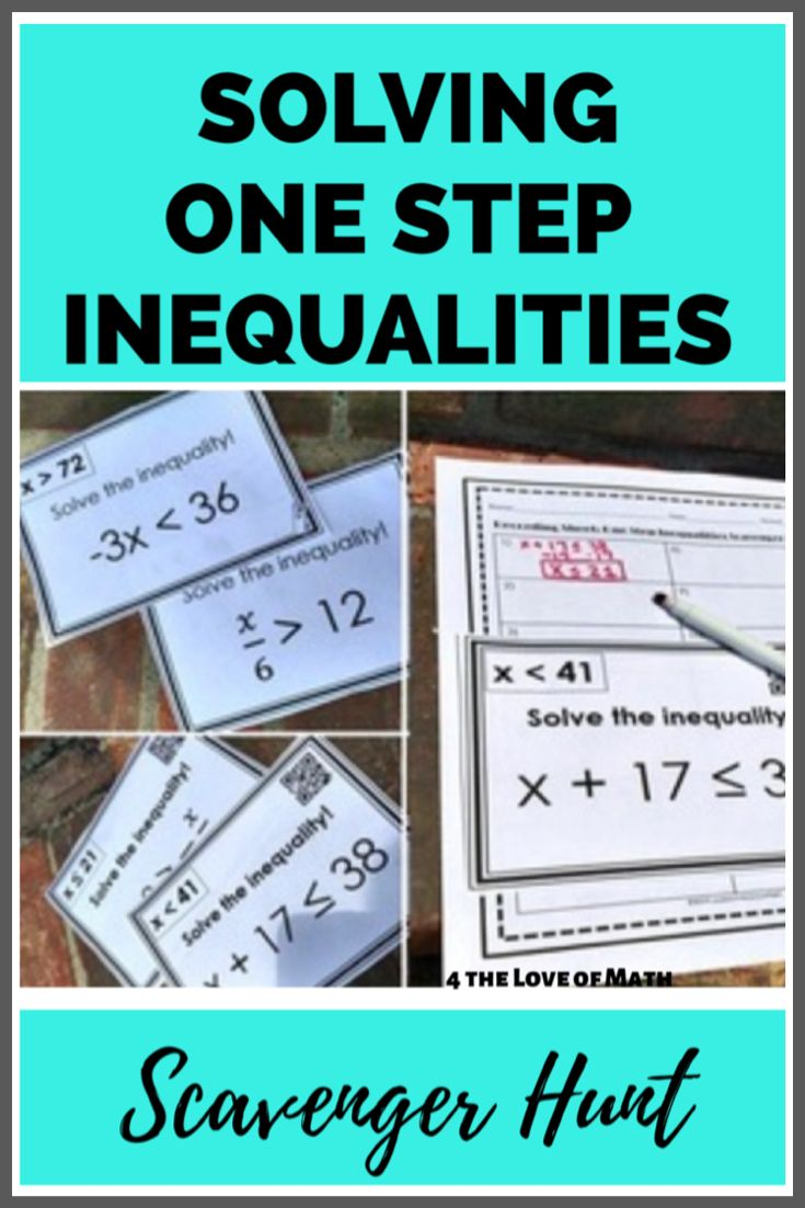 Solving One Step Inequalities Scavenger Hunt Algebra Scavenger Hunt Algebra Worksheets