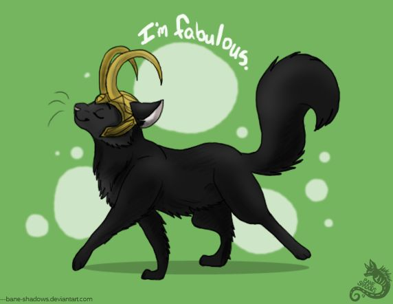 I'm fabulous <----- this surprisingly suits him ( his character I mean )