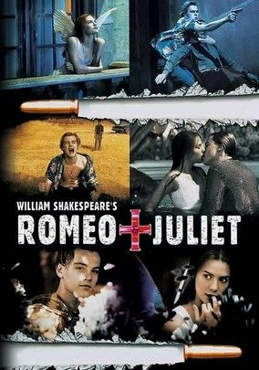 Romeo + Juliet (1996) In director Baz Luhrmann's contemporary take on William Shakespeare's classic tragedy, the Montagues and Capulets have moved their ongoing feud to the sweltering suburb of Verona Beach, where Romeo (Leonardo DiCaprio) and Juliet (Claire Danes) fall in love and secretly wed. Though the film is visually modern, the bard's dialogue remains intact as the feuding families' children pay a disastrous cost for their mutual affection.