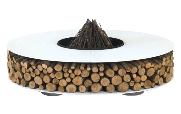 Buy NEW Zero Fire Pit by Design Collectif - Made-to-Order designer Accessories from Dering Hall's collection of Contemporary Rustic / Folk Industrial Organic Fireplace Mantels & Accessories.
