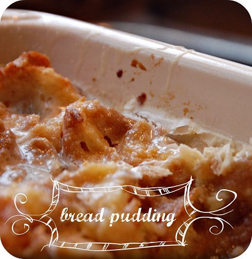 """Perfect BREAD PUDDING recipe, courtesy of """"#Christmas with Paula Deen""""."""