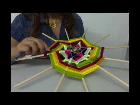 Mandala Espiral de la Vida. Segunda parte: como diseñar y tejer una espiral de 12 puntas. - YouTube