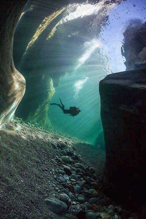 Green Lake in Austria. http://www.deepbluediving.org/best-tips-on-equalizing-when-diving/
