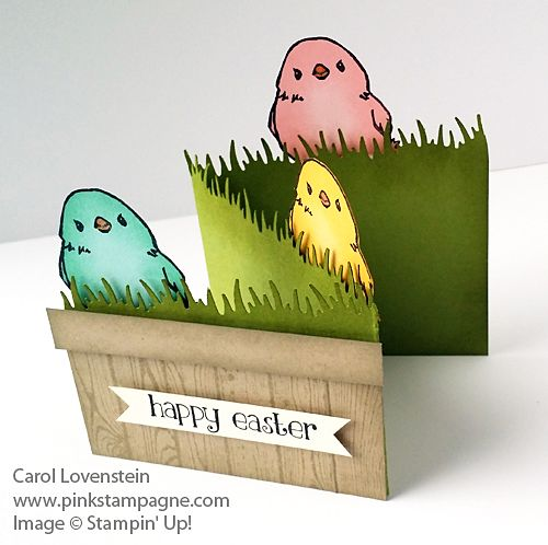 Easter Chicks Basket of Fun | Honeycomb Happiness 2016 Sale-a-Bration | Easter Lamb 2016 Occasions Catalog | designed by Carol Lovenstein Pinkstampagne.com | Stampin' Up! card idea