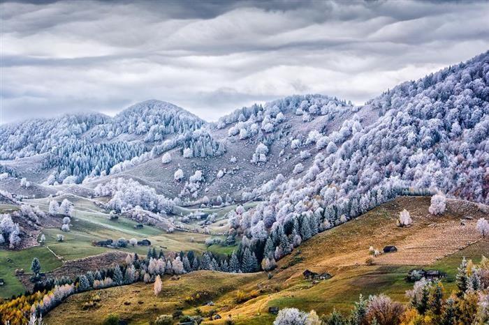 A Snowy Day in Burzenland