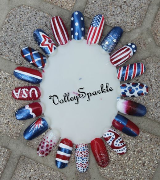 518 best 4th of july nail art images on pinterest nail scissors 20 4th of july nail designs volleysparkle prinsesfo Gallery