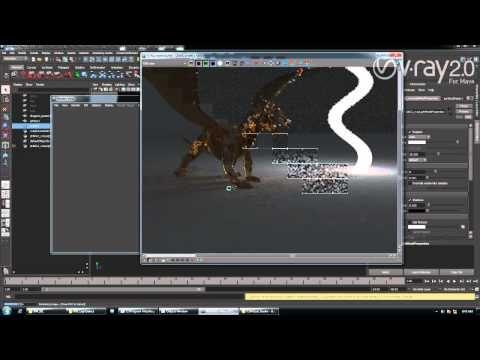 V-Ray for Maya - Object Based Lighting with V-Ray Mesh Light - YouTube