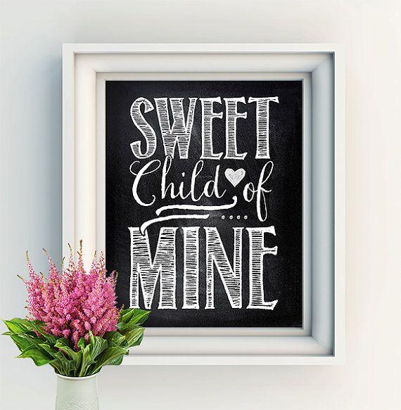8X10 Art Print Sweet child of mine Guns 'N' Roses by ThePrintAnnex