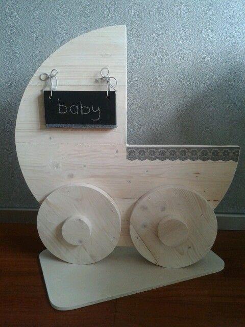 Gaaf geboorte bord wieg