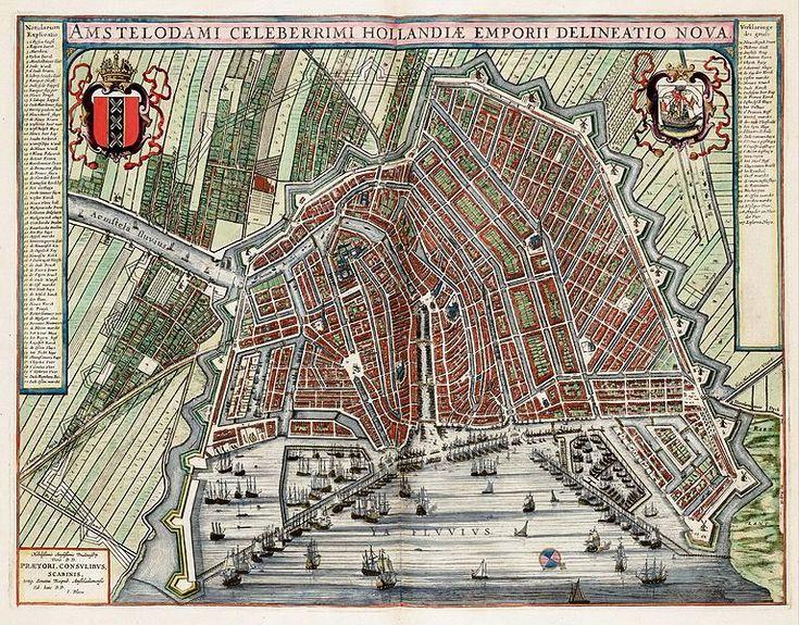 Website om historische kaarten van Amsterdam te zoeken.