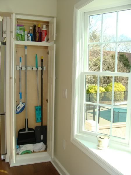 Broom Mop Storage For Kitchen Over By The Back Door Make It Skinny To Fit So I Don T Have Keep Going Around Mud Room Get