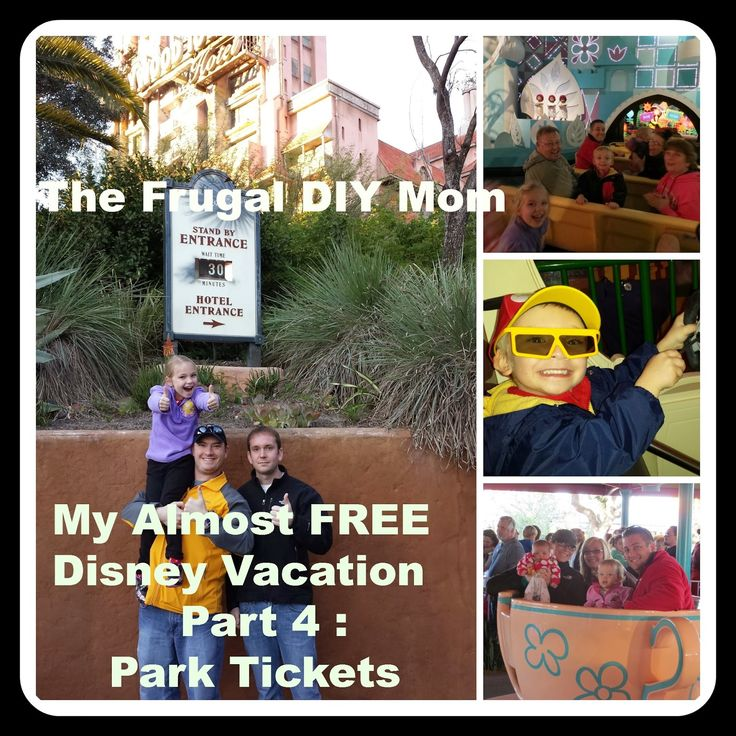 How to get Almost FREE Disney World / Disneyland Park Tickets - My Almost FREE Disney Vacation Part 4: The Frugal DIY Mom