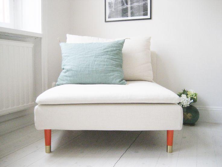 shoe your armchair with estelle orange