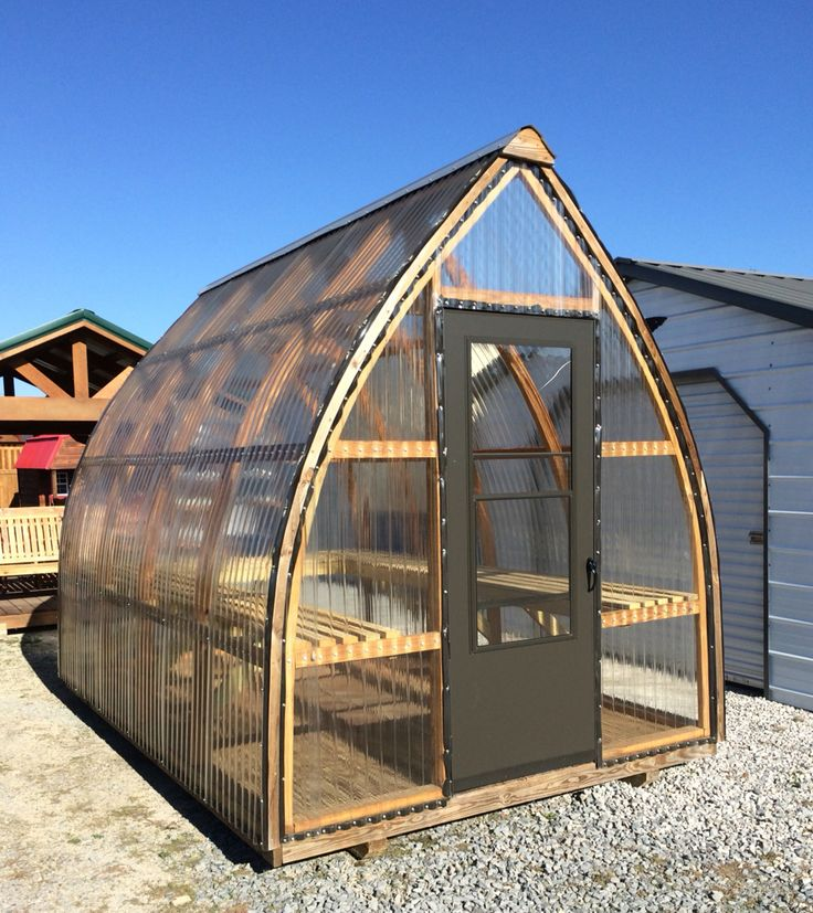 17 best bow roof shed images on pinterest greenhouses for Bow roof shed