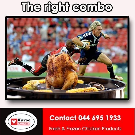 The right combination this weekend is a Karoo Kuikens chicken on a braai while watching the rugby. We also stock chicken wors at R59.99/kg and sosaties R59.99/kg in a choice of 24 different sauces. Enjoy the Rugby everybody. #freshproducts #freshchickenproducts #specialityfoods