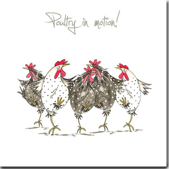Poultry In Motion Greeting Card  Funny Chicken от SarahBoddyUK