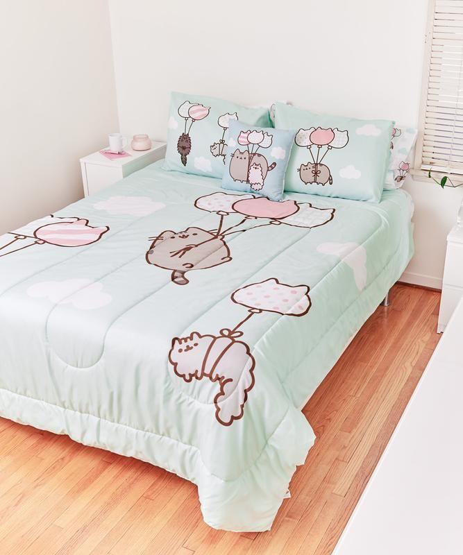 Pusheen Family Full Queen Comforter Set Kawaii Bedroom Comforter Sets Bedroom Design
