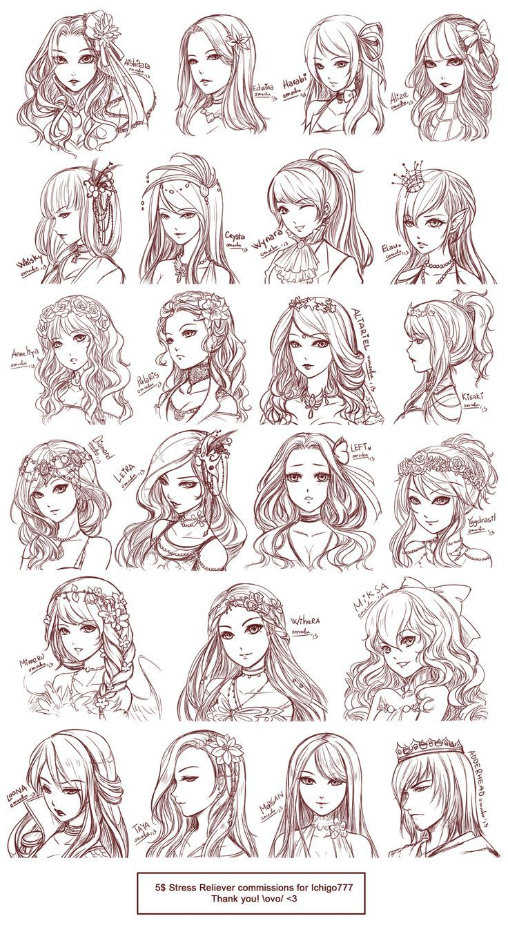 Character Design Reference Photos : Anime hairstyles styles of hair eyes