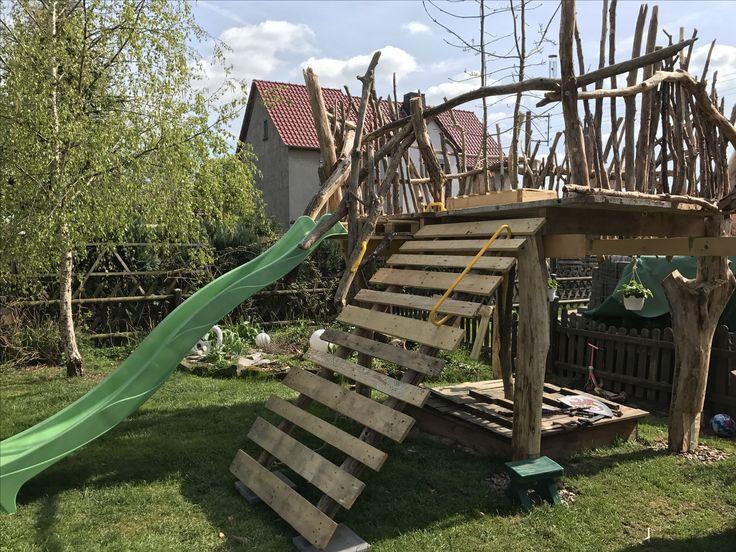 Luxury Treibholz Schwemmholz Spielturm Kletterger st Rutsche