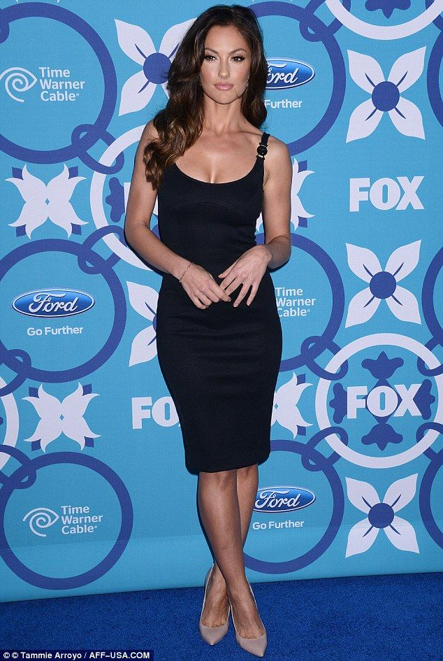 Coming up aces: Minka Kelly turned up the heat at the annual Fox Fall Eco-Casino Party in Santa Monica, California, on Monday night