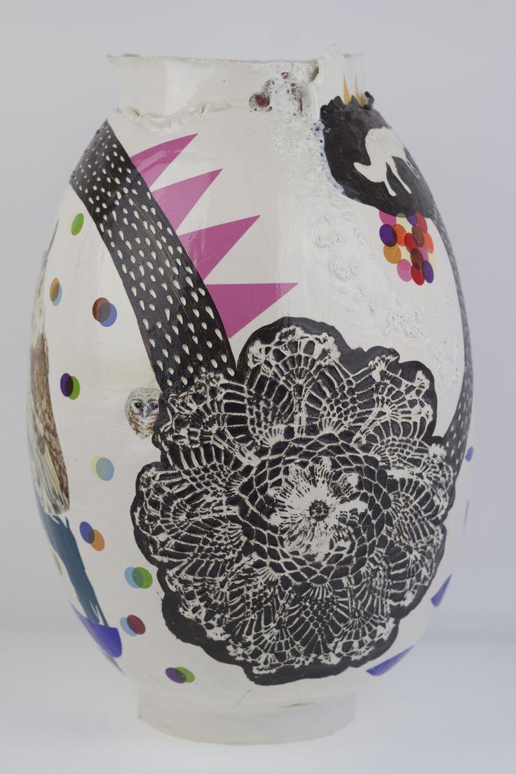 Big fajance vase