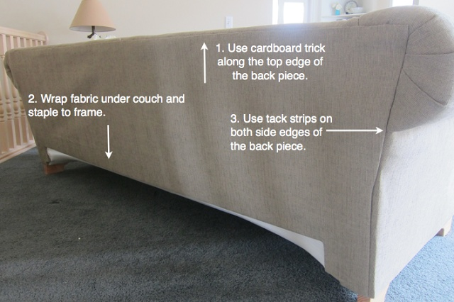 Do it yourself divas reupholster a couch upholstery for Do it yourself couch