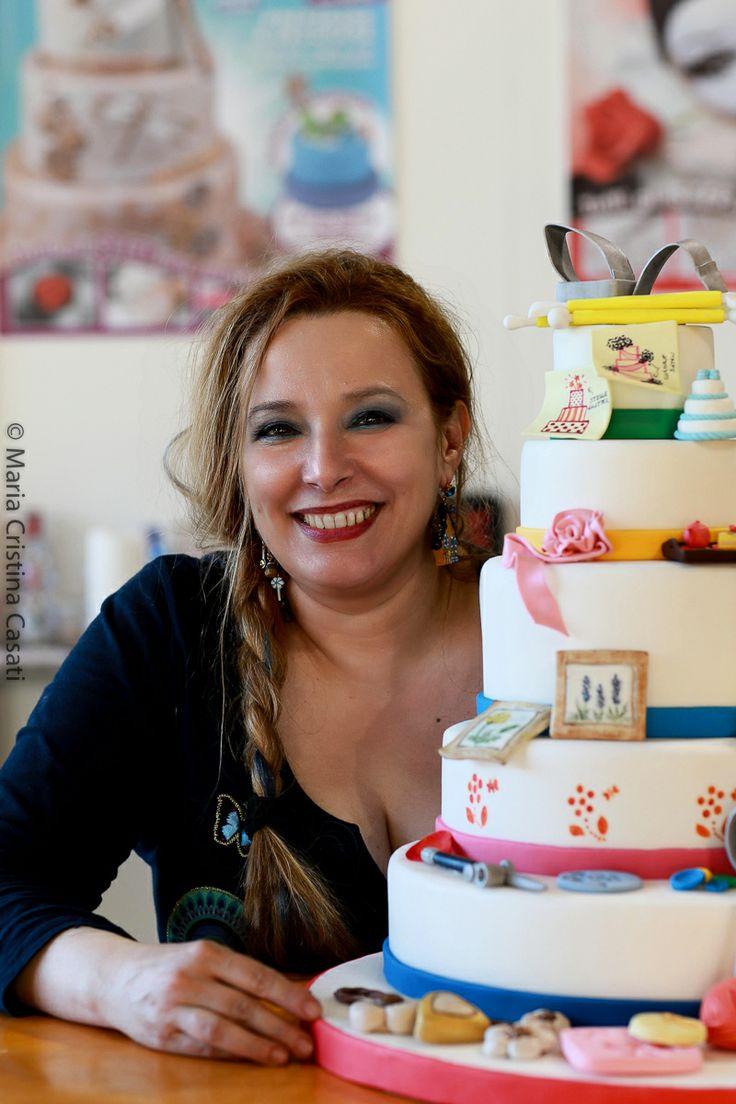 All'Hobby Show con la Torta degli hobby creata con Manuela Michieli e il pubblico della fiera