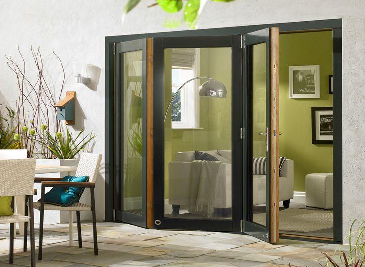 New wider doors Ultra 10ft Grey Aluminium Clad Oak Bifolding Doors | Vufold » Vufold