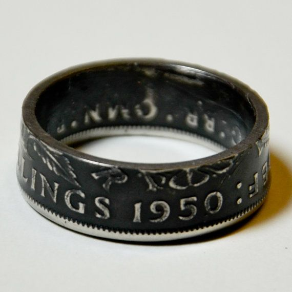 These coin rings are amazing. This one belongs to me. A schilling featuring my parents' birthdate. : men's ring