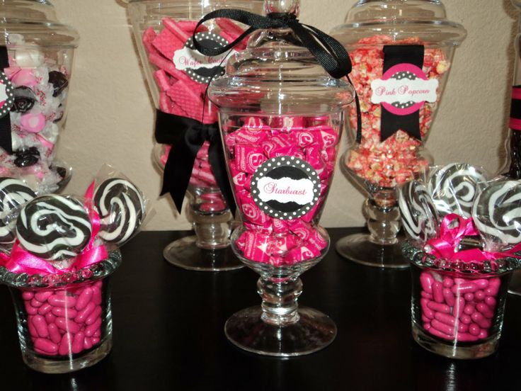Black and Pink Candy Bar for Lingerie party
