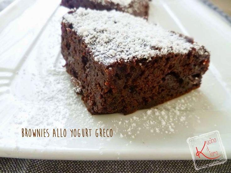 Brownies allo yogurt greco   Kucina di Kiara: blog di cucina a cura di Chiara Rozza