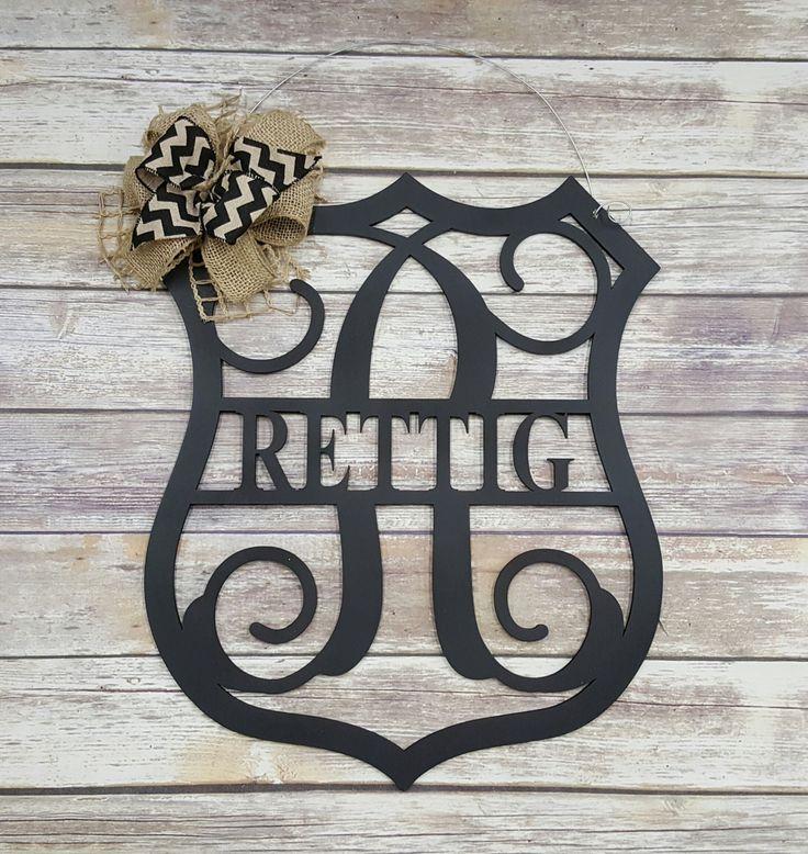 Personalized Police Officer Door Hanger - Police Shield Wreath - Badge Door Hanger - Wedding Gift - Housewarming Gift - Personalized Gift