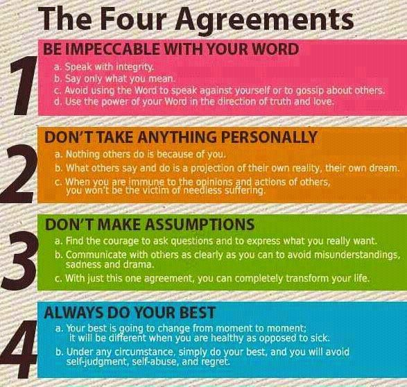 I love that this is a pin! :: The Four Agreements from don Miguel Ruiz