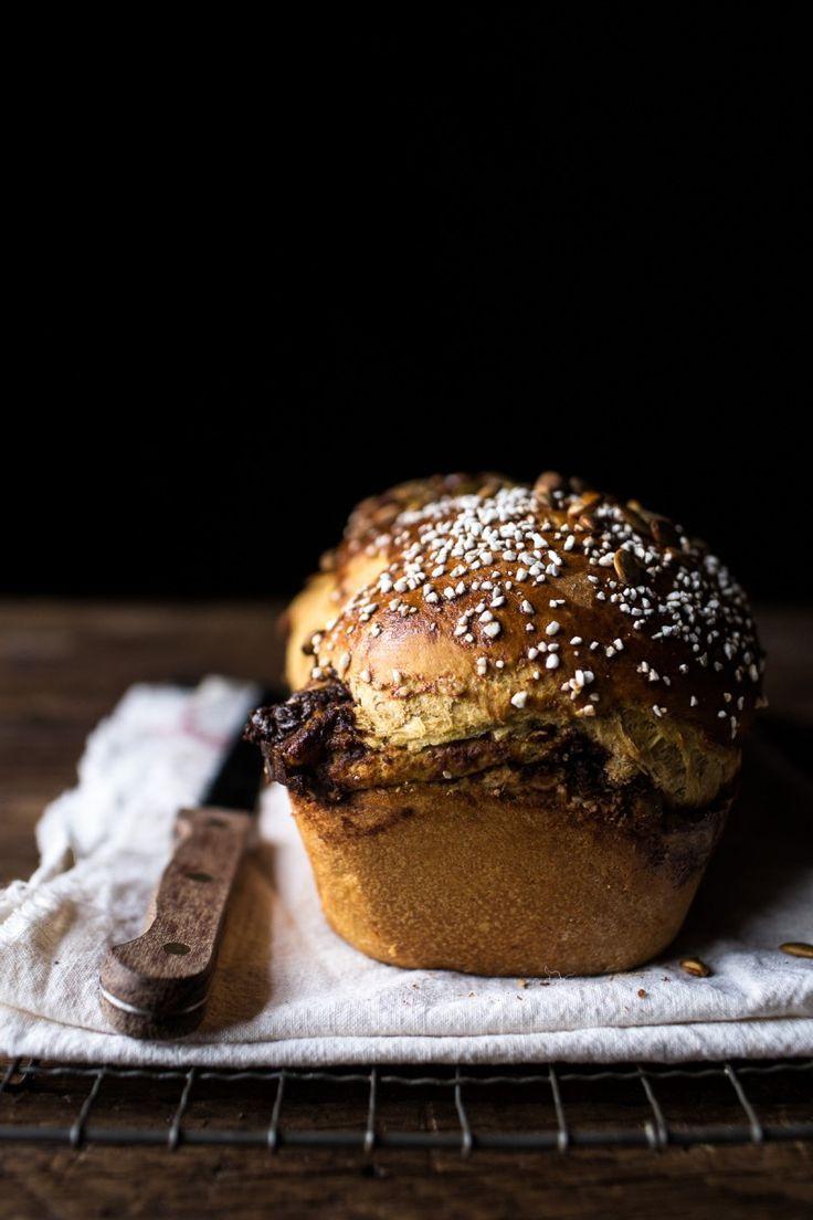 Kürbis-Schokoladen-Zimt-Strudel-Brioche-Brot