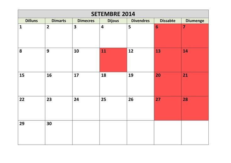 Calendari del curs 2014 15 en català
