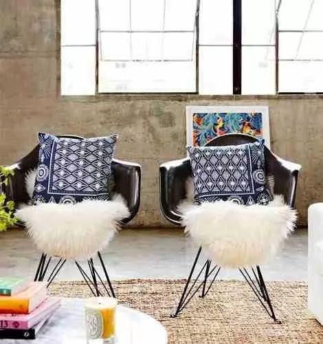 promo cuero de oveja cobertor para sillas y sillones / large