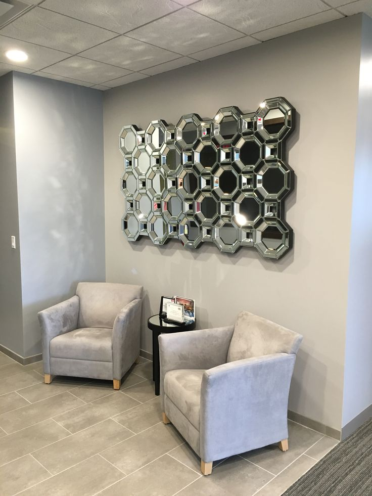 This photo is from Oak Residential Partners of our Crawford Mirror in the entryway of their offices