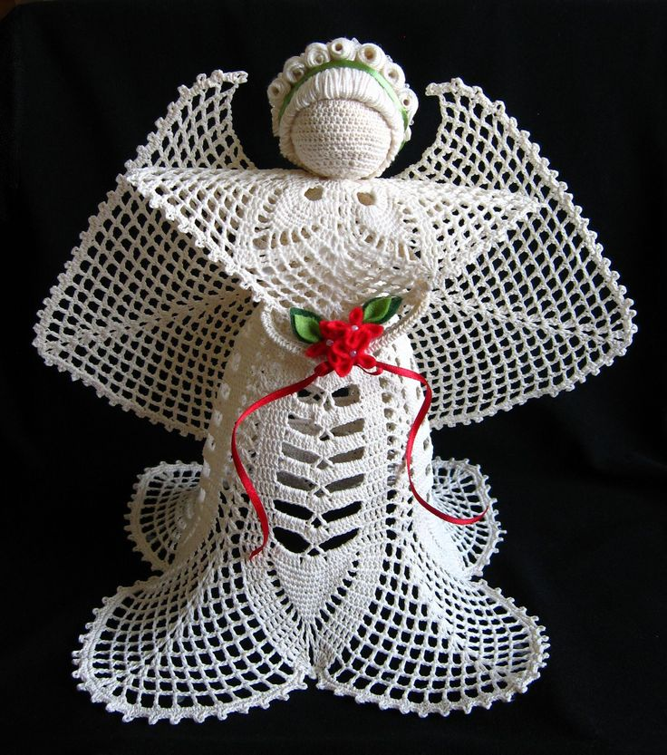 Crochet angel Edith ? Little Black Lace like the skirt and head, not ...