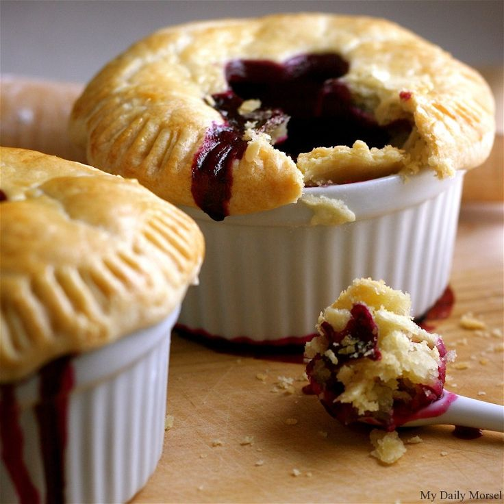 Mini Lemon-Blueberry Pies - Vegan w/ vegan crust and egg replacer or flax egg for the wash