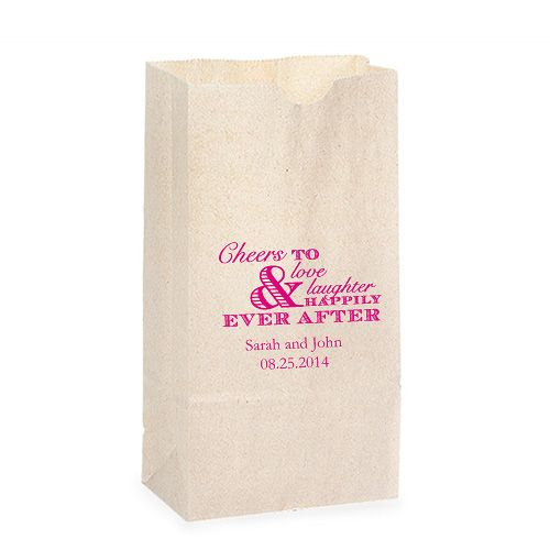 Large paper bags with printed message