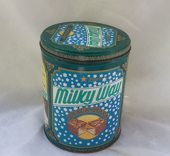 Milky Way Mars Snack Candy Bars Canister Container