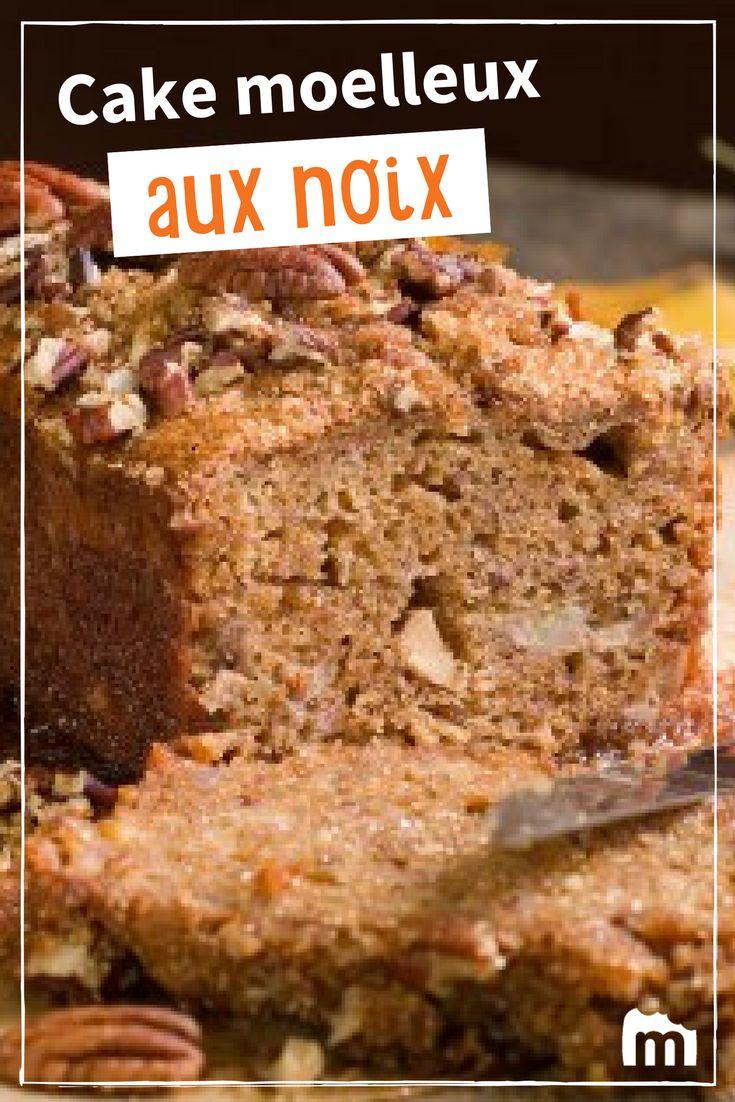 Cake moelleux aux noix /// #cake #gâteau #moelleux #noix #marmiton #dessert #recette #cuisine