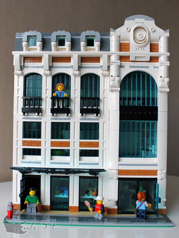 Brick town talk lego town architecture building tips for Modernes lego haus