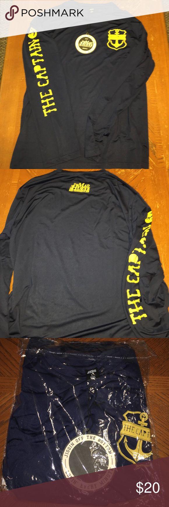 The Mad Huey's long sleeve T shirt NWT The Mad Huey's long sleeve shirt. Navy Blue and Yellow. The Mad Huey's Shirts Tees - Long Sleeve