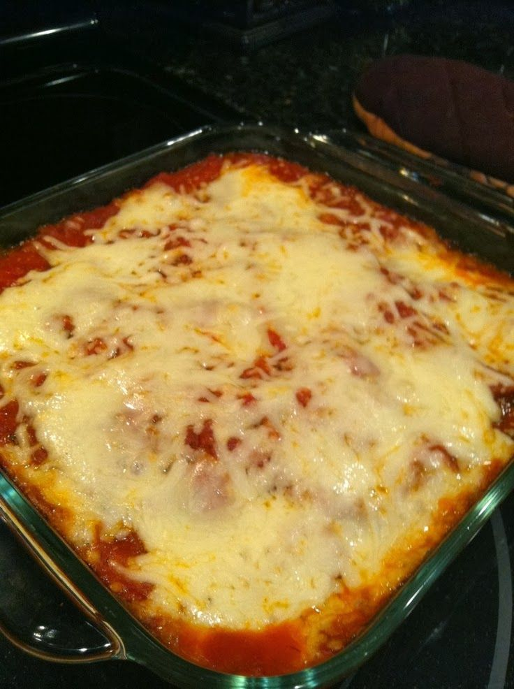 Healthy Eggplant Parmesan Bake - Low calories, NO Meat! #vegetarian #italian | Best Recipes for Dinner