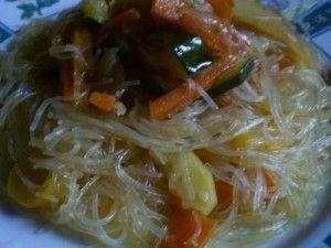 Spaghetti cinesi con verdure