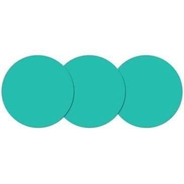 Dorm Wallpops ! Dry-Erase 3-Piece Calypso Dot Set In Teal. Dry erase place mats for group kidney table
