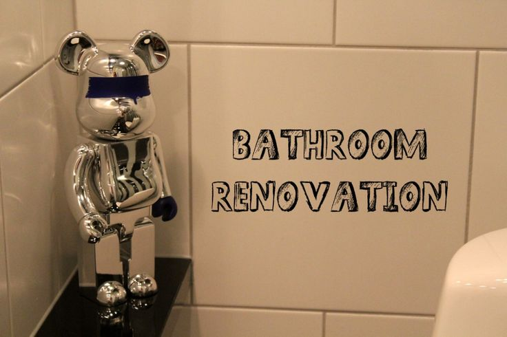 Bathroom renovation. Black and white bathroom. Bathroom inspiration. Bearbrick
